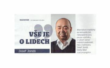 Rozhovor MUDr. Jonáše v magazínu Zdraví