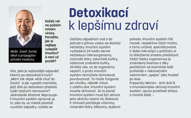 Článek MUDr. Jonáše v říjnové příloze deníku Zdraví